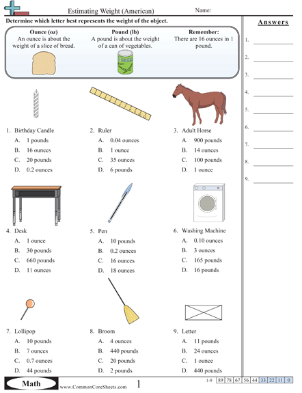 weight worksheets measurement 6th grade pinterest worksheets math and kindergarten. Black Bedroom Furniture Sets. Home Design Ideas