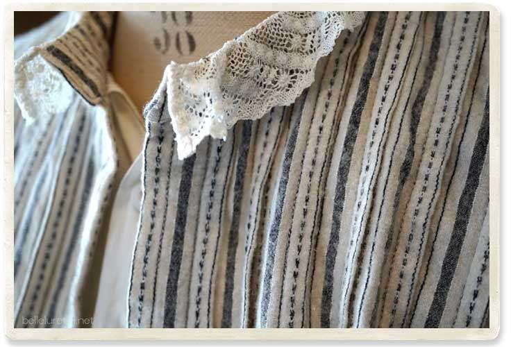 アンティークブラウスジャケット - 【Belle Lurette】ヨーロッパ フランス アンティークレース リネン服の通販