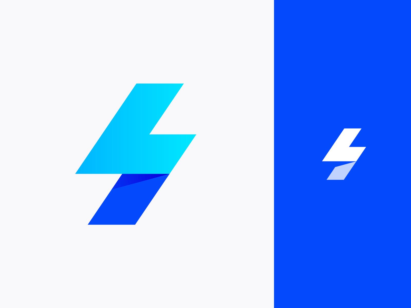 L Lightning Bolt S Logo Concept Logo Concept S Logo Design Lightning Logo