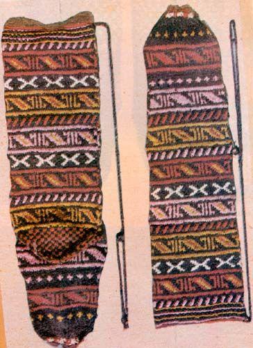 Knitted Socks, Fish, Cankiri