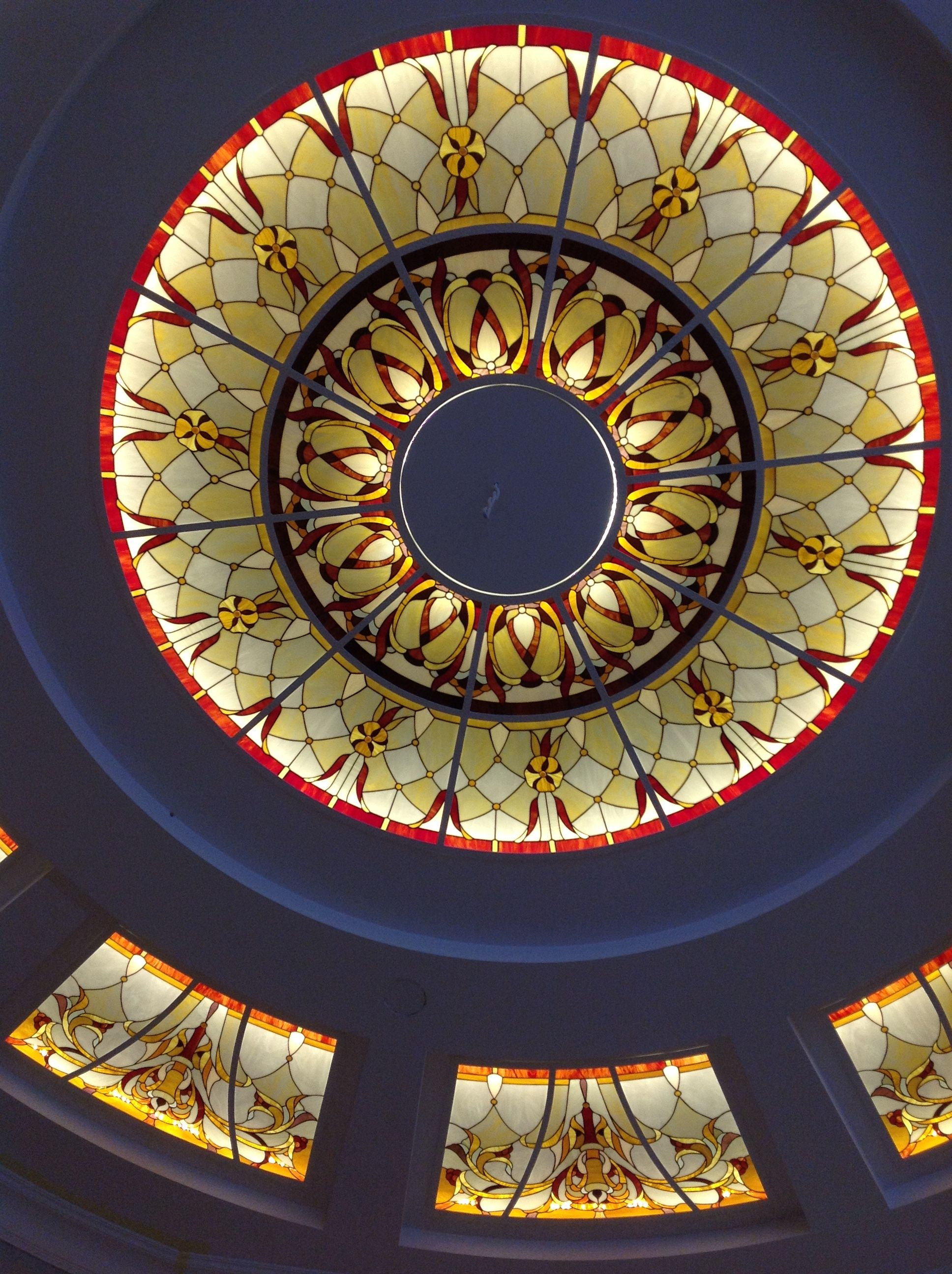 Pin By Son Sook On 스테인드글라스조명등 Stained Glass Designs Ceiling Design Ceiling Design Modern