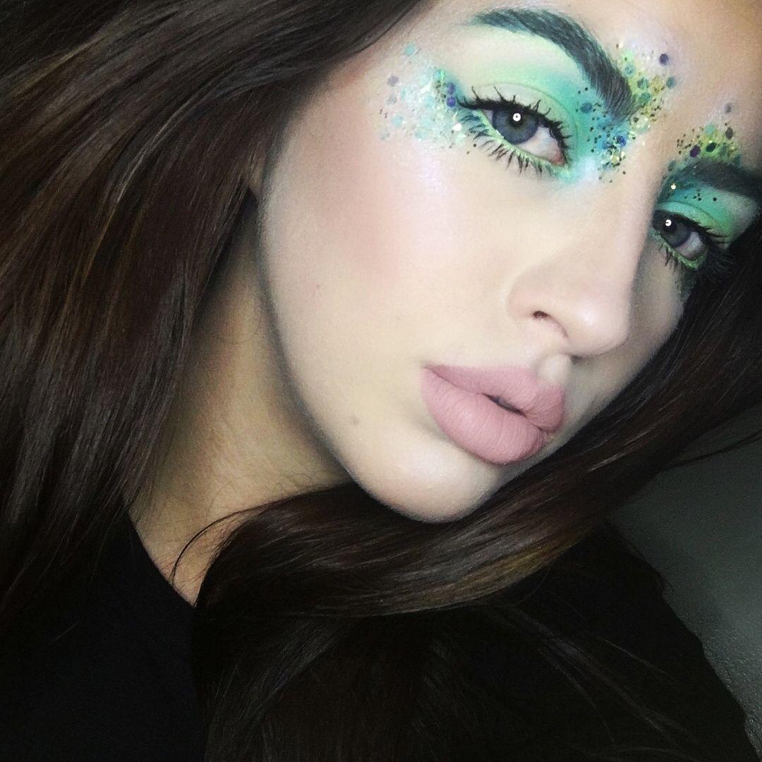 Courtney (@courtneyraemua) on Instagram: mermaid festival glitter makeup look makeup artist