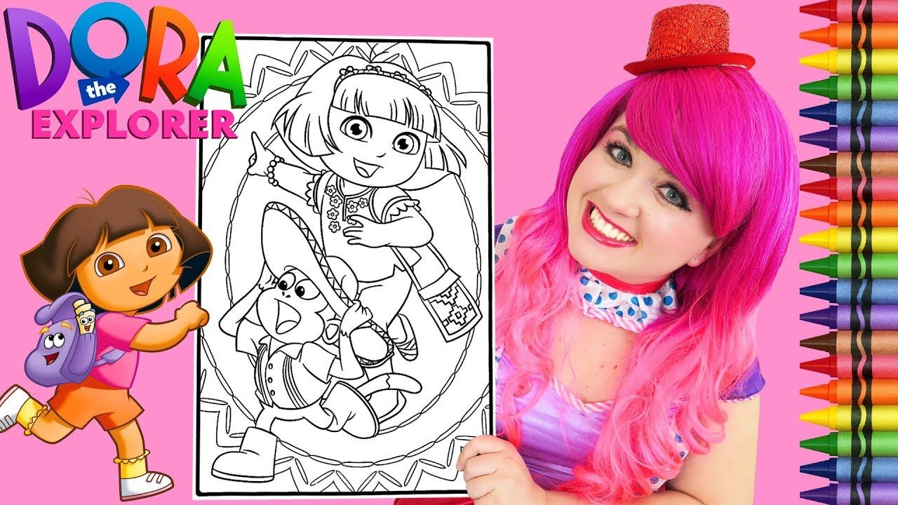 Coloring Dora Boots Fiesta Giant Coloring Book Page Crayola Crayons Coloring Book App Coloring Books Anime