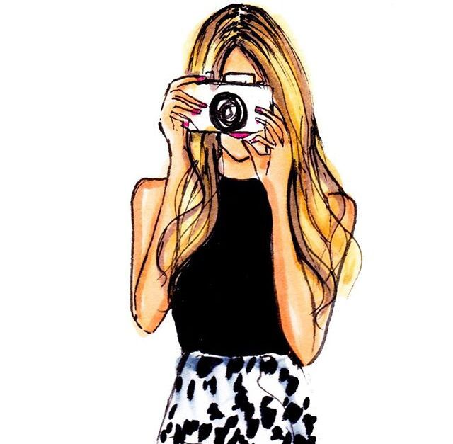 Image result for girl clicking picture or illustration