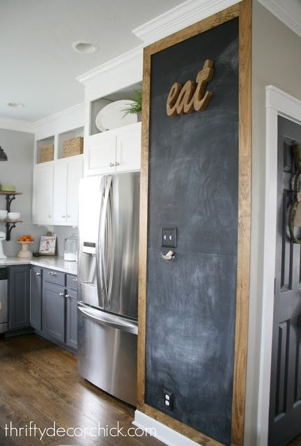 Adding some rustic charm to the kitchen Chalkboard frames, Minwax