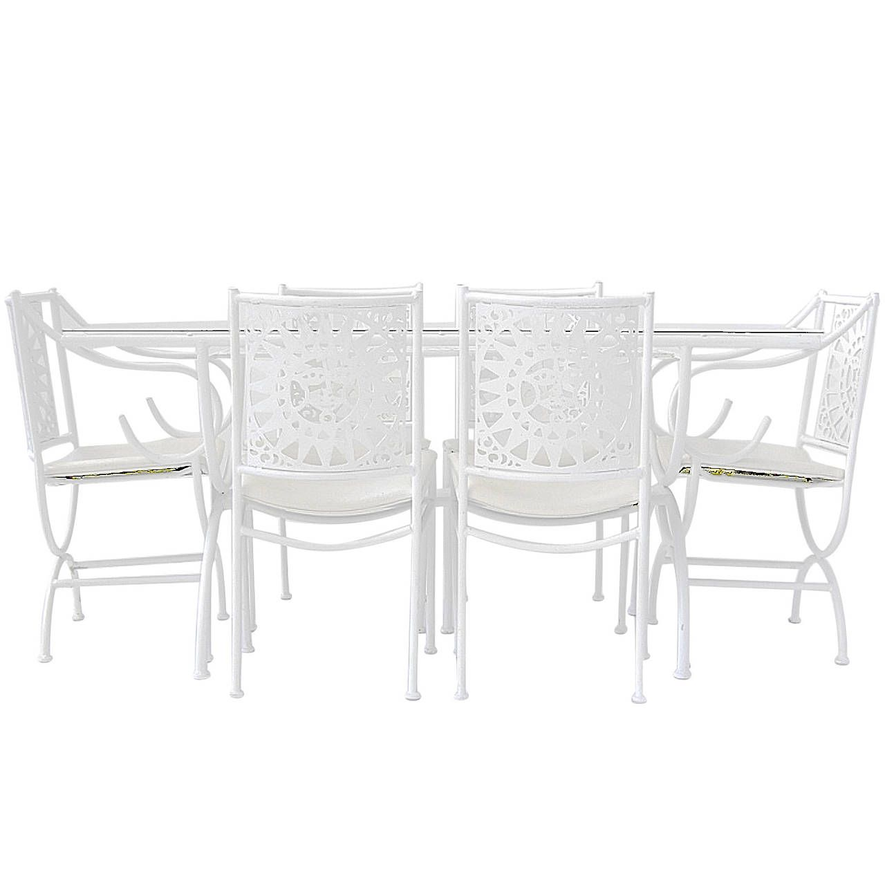 Arthur Umanoff For Shaver Howard Sun Patio Set With Table And Six Chairs