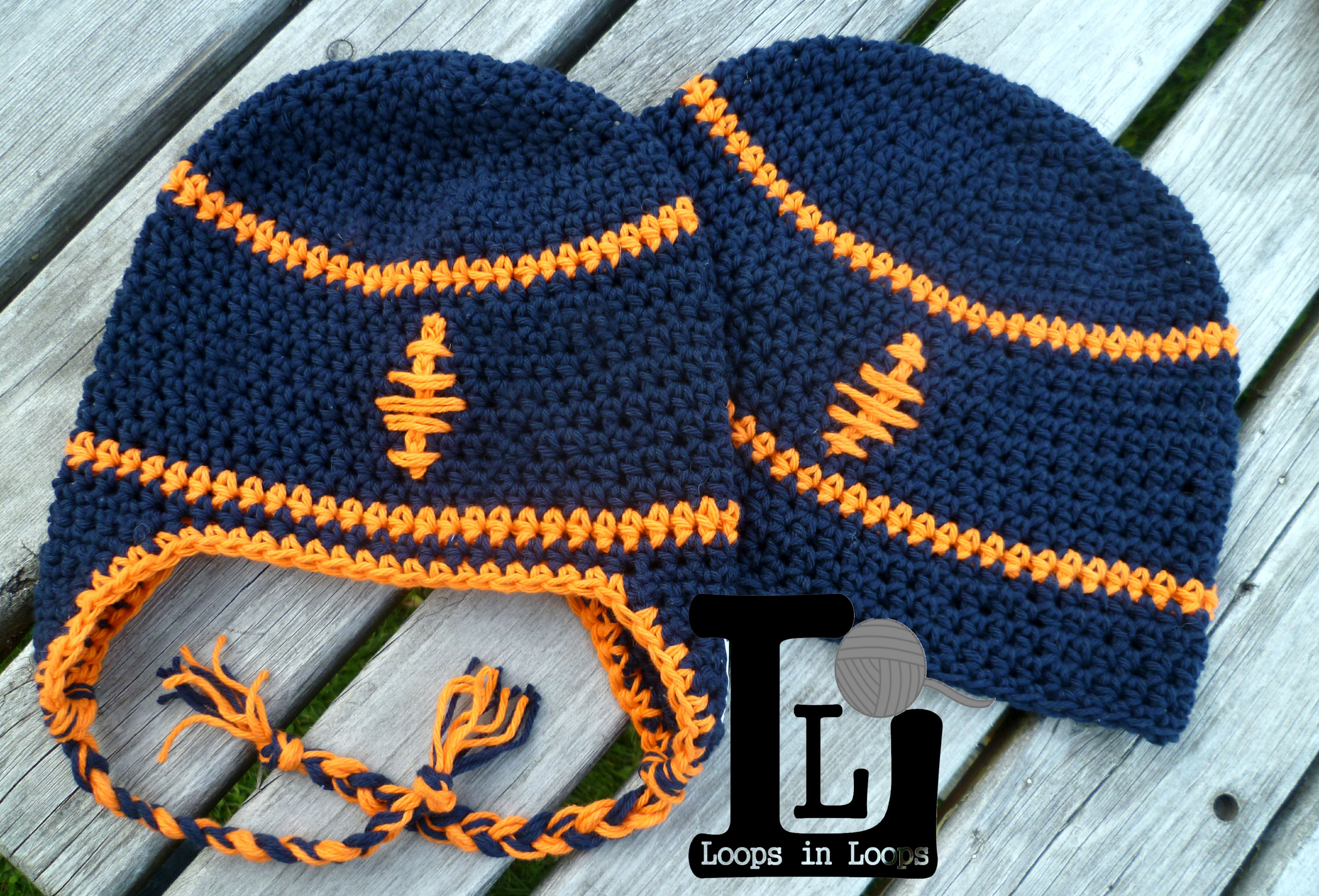 Matching Daddy Son Football hats  100% cotton   ~Loops in Loops Find me on Facebook and Hyena Cart!