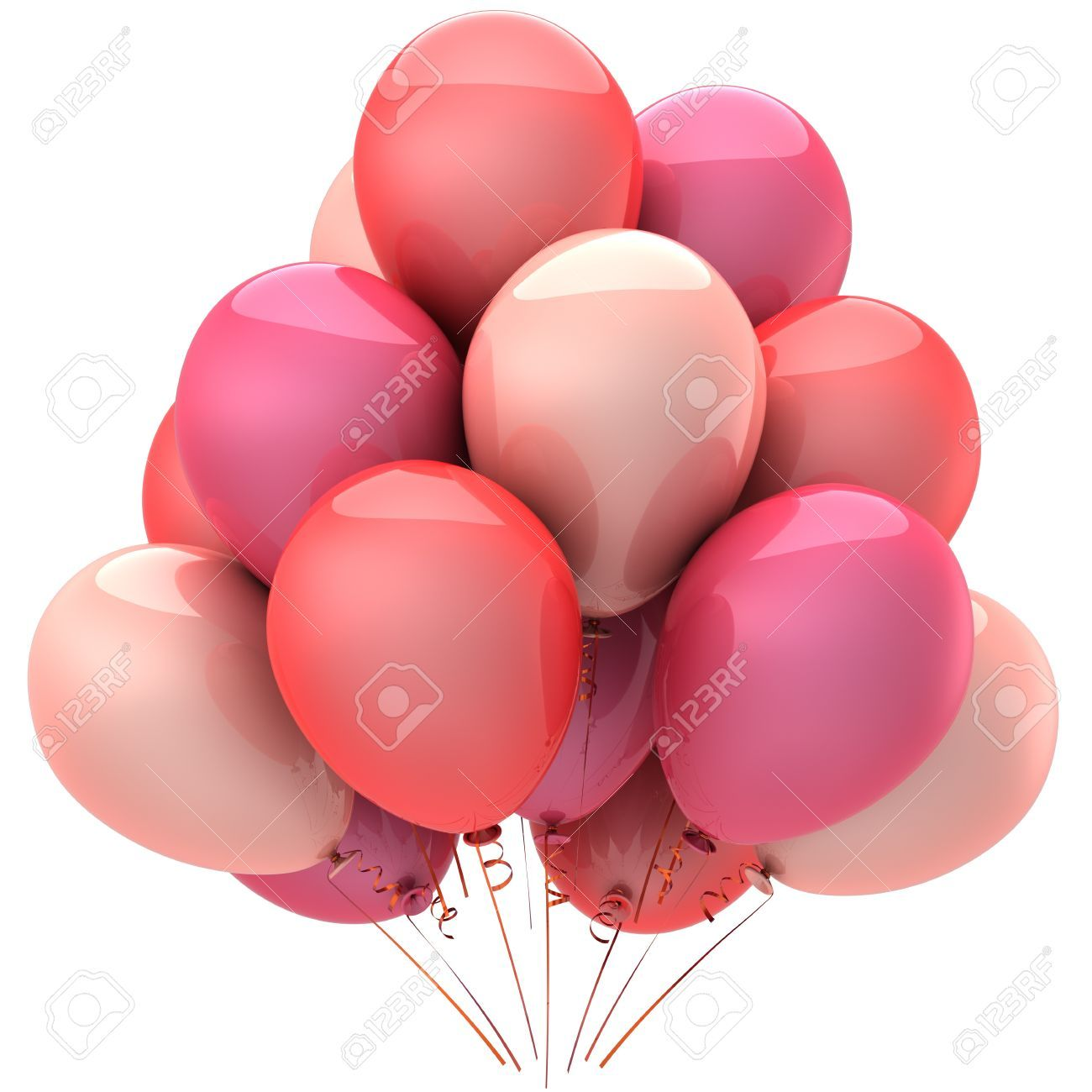 Party balloons colored romantic pink. Love sentimental emotions ...