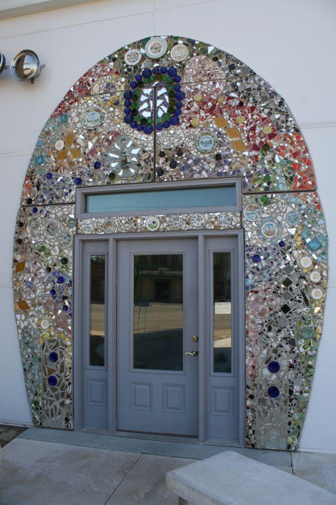 Lucas, Kansas ~ Bowl Plaza, #Restroom #Grassroots #ArtsCenter #Mosaic #Artwork #SelfTaught #Artist