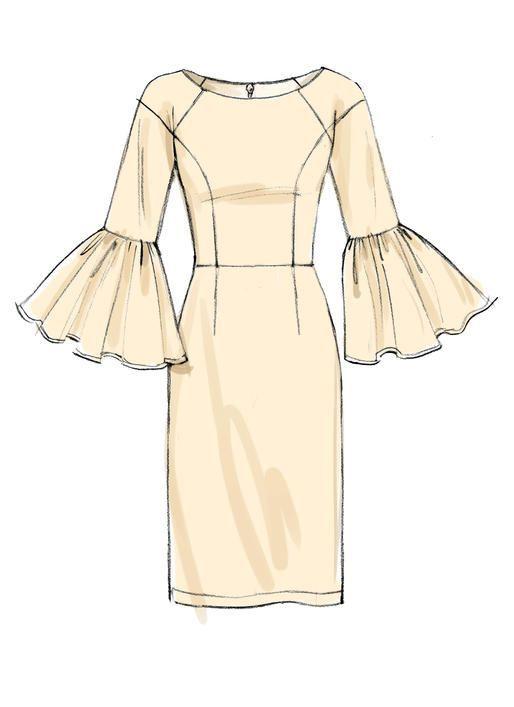 V9239 Dress Design Sketches Fashion Drawing Dresses Dress Sketches