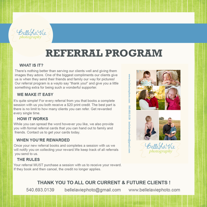 We Love Rewarding Our Clients Referralprogram Belle La Vie