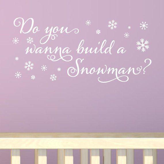 do you wanna build a snowman vinyl wall decal sticker decor walt