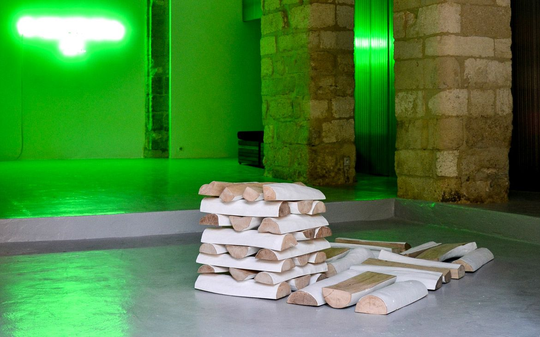 Wood stock, Frédéric Fourdinier 2012 dimenssions variables - bois, acrylique