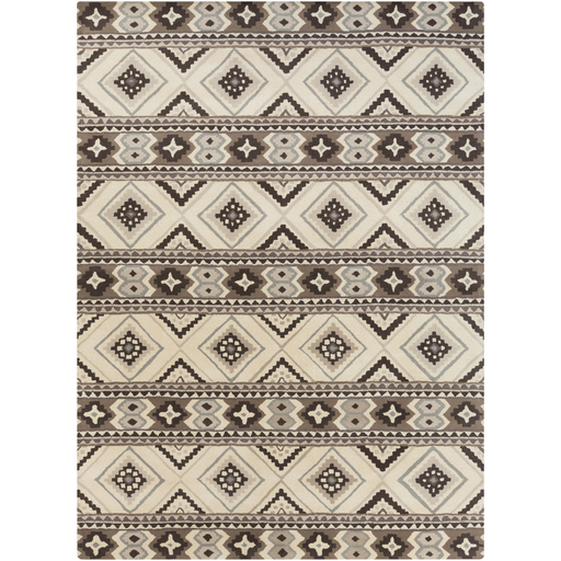 Albuquerque Area Rug Gray Southwest Rugs Hand Tufted Style Alq402