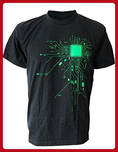 ac90b33653212 SODAtees COMPUTER Chip CPU CORE HEART Men s T-Shirt Geek NERD - Black-Grn -  Small - Cool and funny shirts ( Amazon Partner-Link)