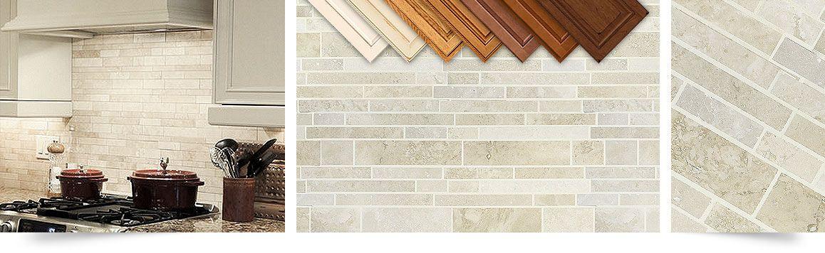 Travertine Subway Backsplash Tile. Light Ivory Travertine Beige Color Kitchen  Backsplash Tile.