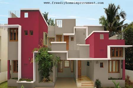 Exterior walls paint ideas beautiful creations for Outside paint colours for house in india