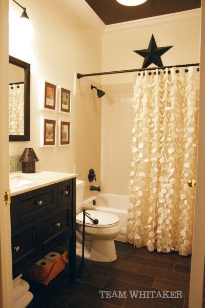 love the shower curtain!! | Bathroom | Pinterest | Rustic bathrooms ...
