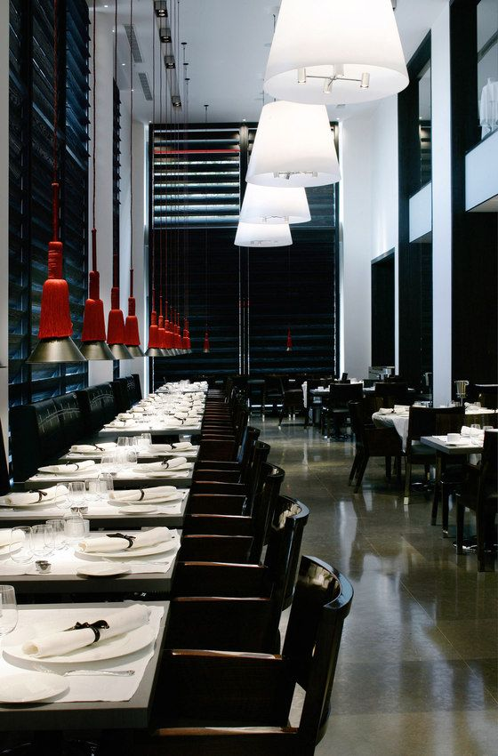 Christian liaigre hotel puerta america creation and decoration of the restaurant