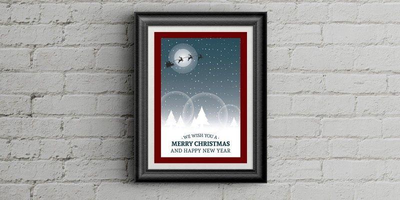 Christmas Poster Template monica brochures   print for sale - christmas poster template