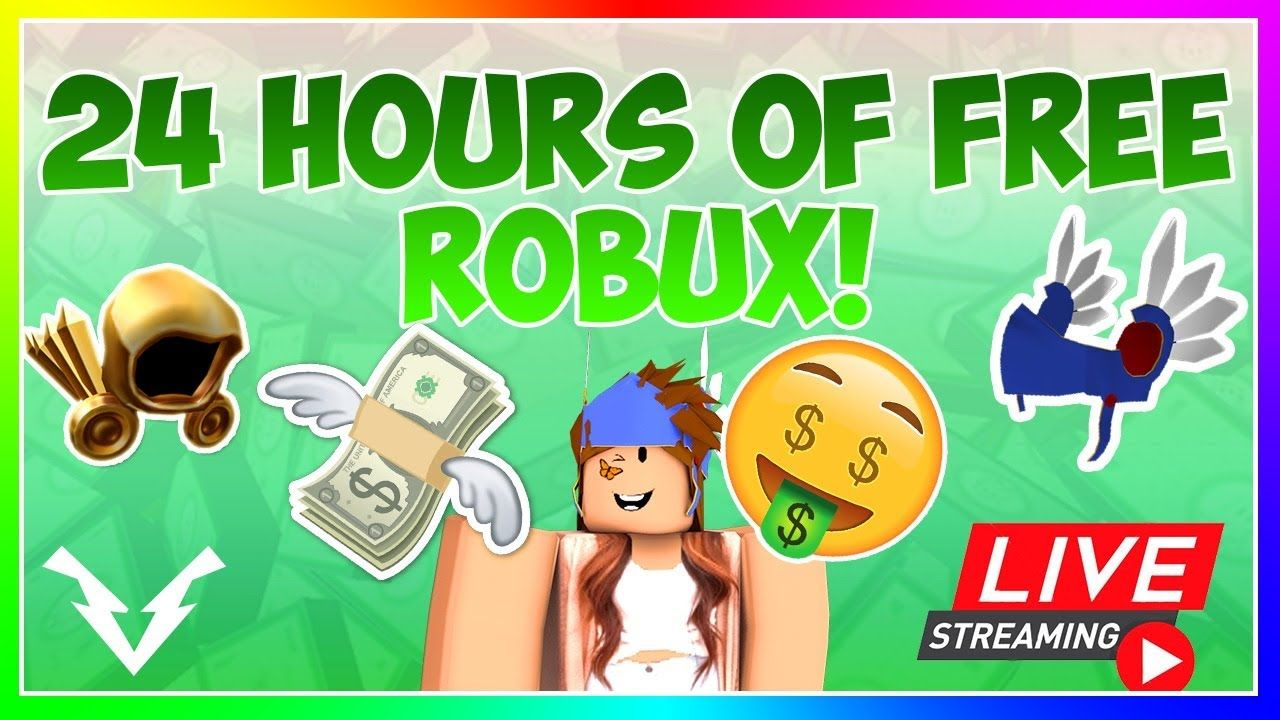 24 Hour Livestream Free Robux Drops Get Free Robux From Rblx City Roblox Roblox 2006 Live Streaming