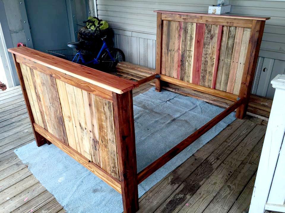 Pallet Full Size Bed Frame Jpg 960 720 Pixels Pallet Bed Frames