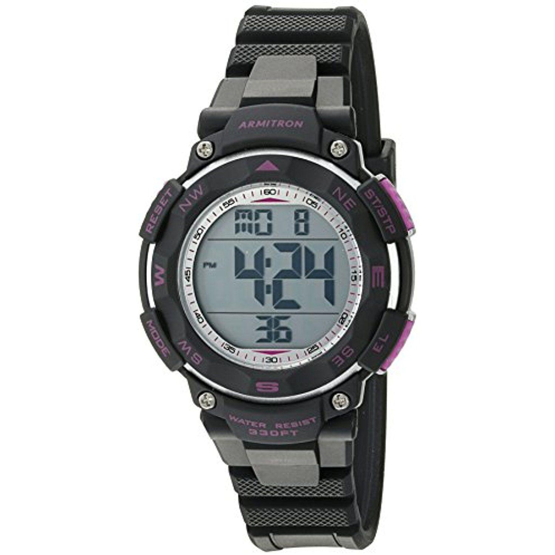 Armitron Sport Women's 45/7058BKPR Purple Accented Digital