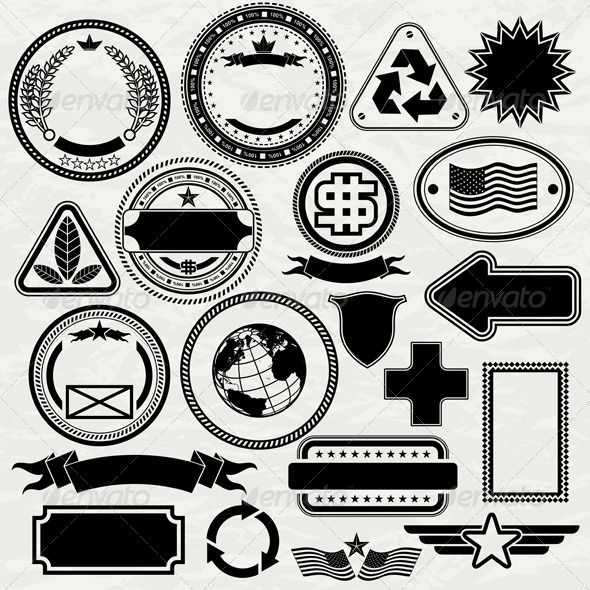collection of design elementsstamps custom rubber