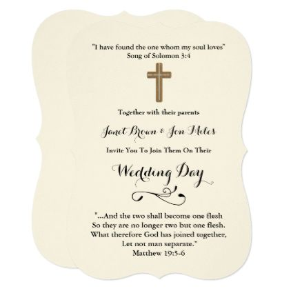 Wedding Invitations With Verses