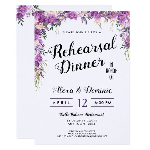 Spring summer wedding rehearsal dinner invitation junglespirit Image collections