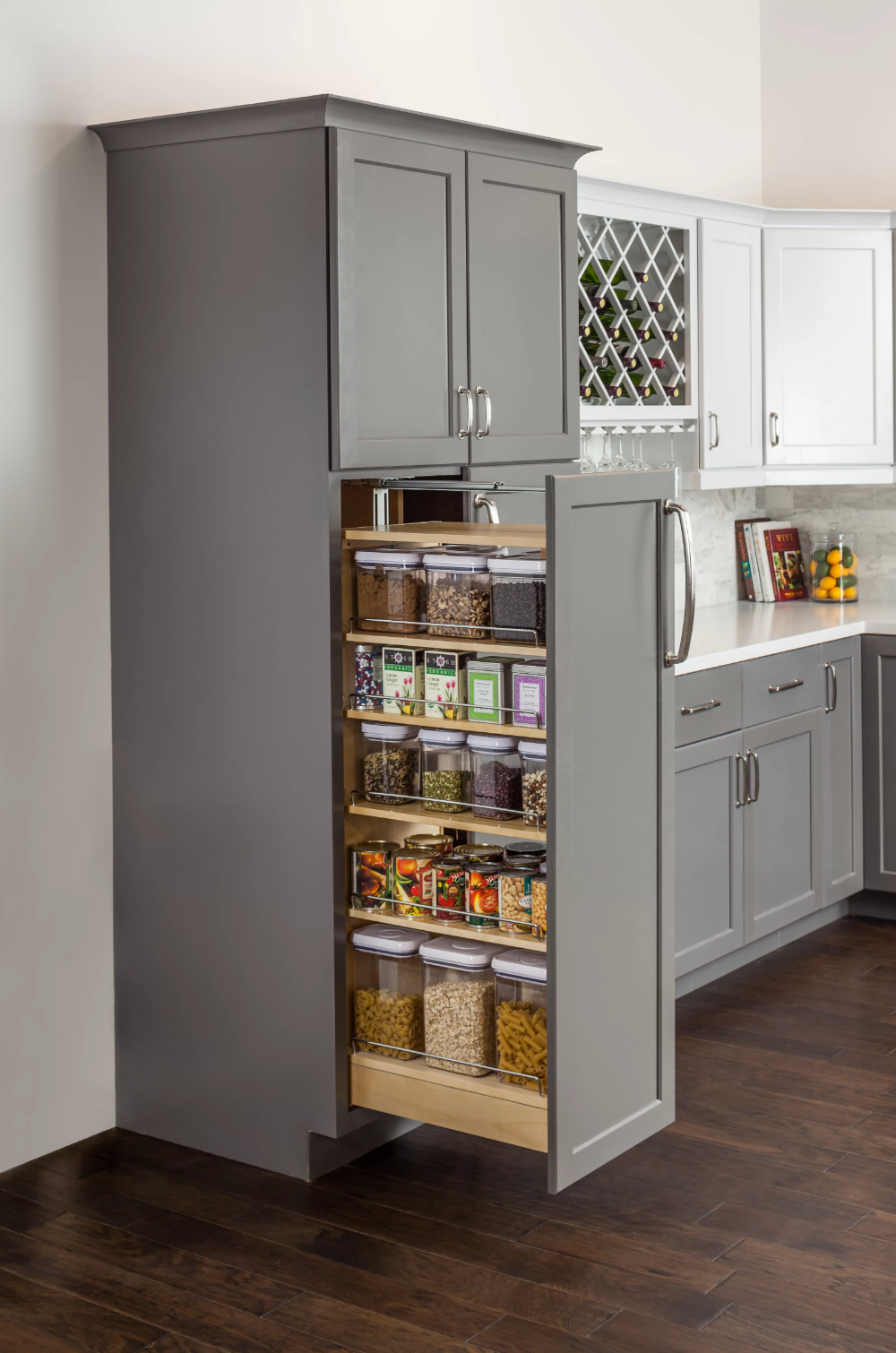 Wood Cabinet Pull Out Pantry