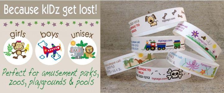 For the next few trips tigtagz identification bracelets
