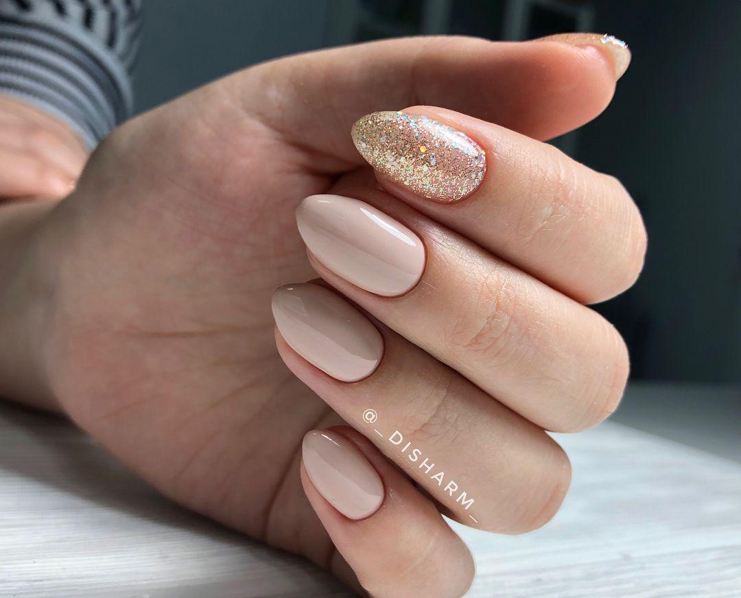 Nail art design : gliter nail , mismatched nail design ideas #nailpolish #nailart #nails