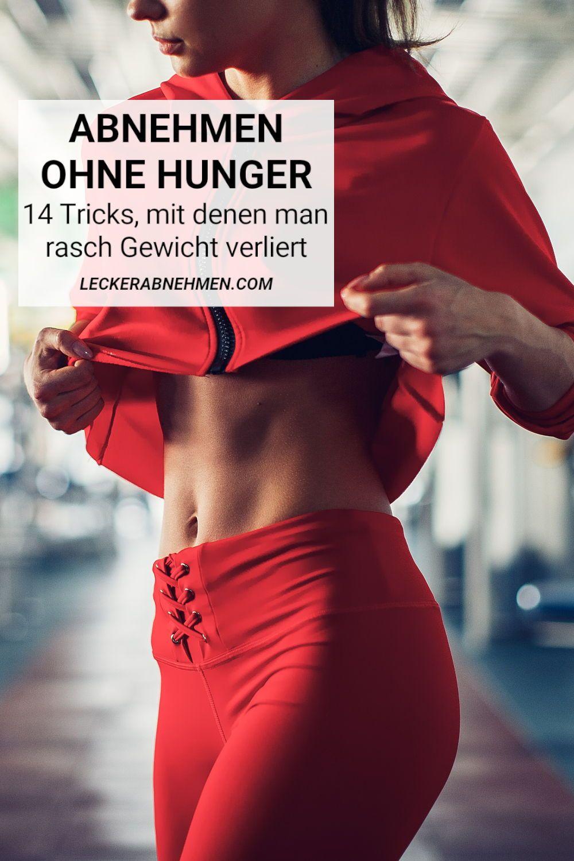 Wie man schnell Gewicht verliert, ohne hungrig zu werden
