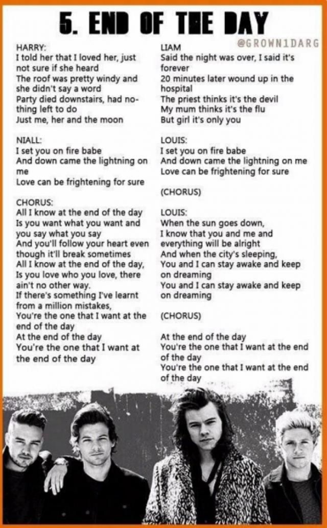 End Of The Day Made In The A M One Direction Songs One Direction Lyrics One Direction Quotes