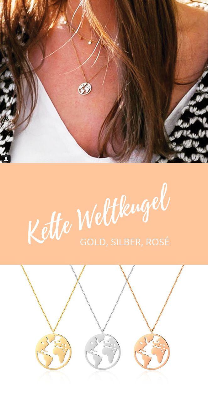 NEU in unserem Shop: Filigrane #Kette mit #Weltanhänger in
