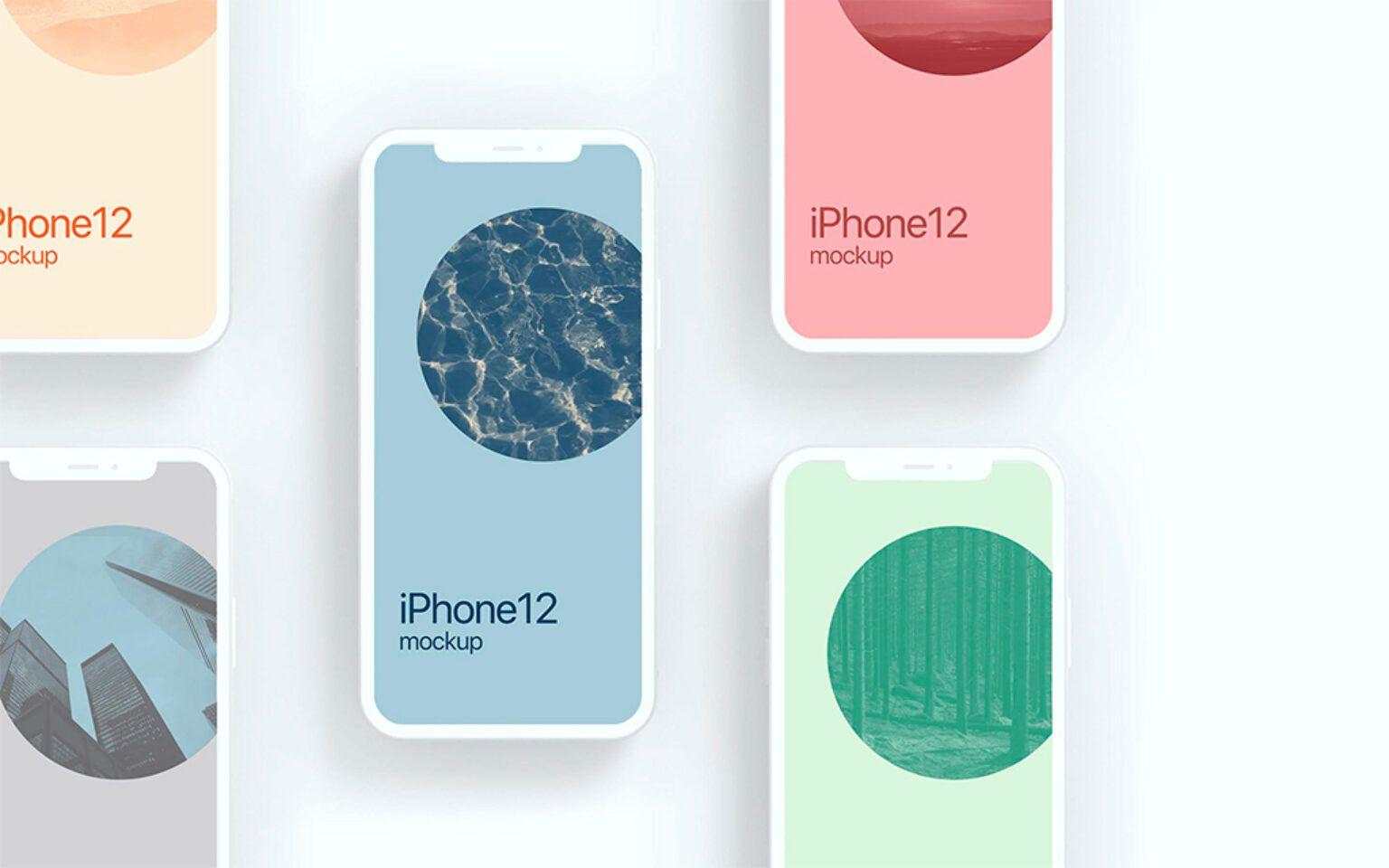 Iphone 12 Clay Style Mockup Set Mockup World