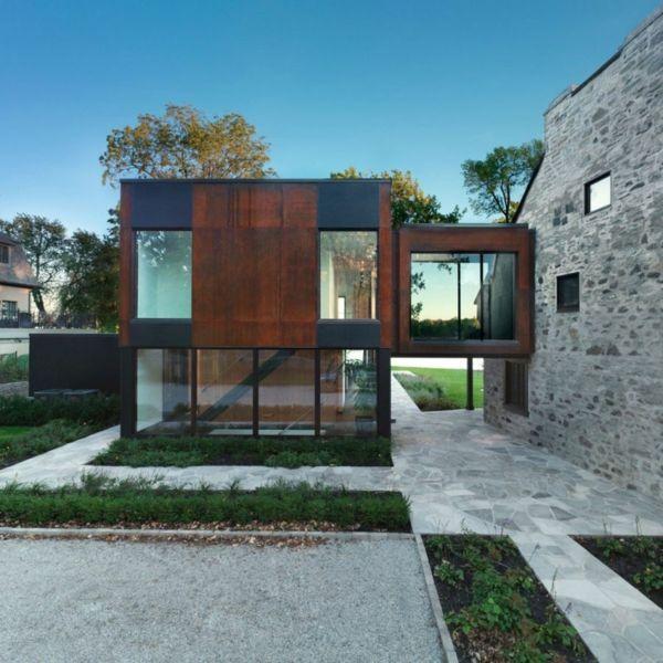 Historisches Haus mit modernem Ausbau in Quebec Hausanbau - geometrische formen farben modernes haus