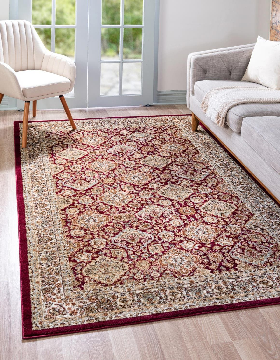 Red Classic Agra Area Rug In 2020 Rugs Clearance Rugs 5x8 Area Rugs