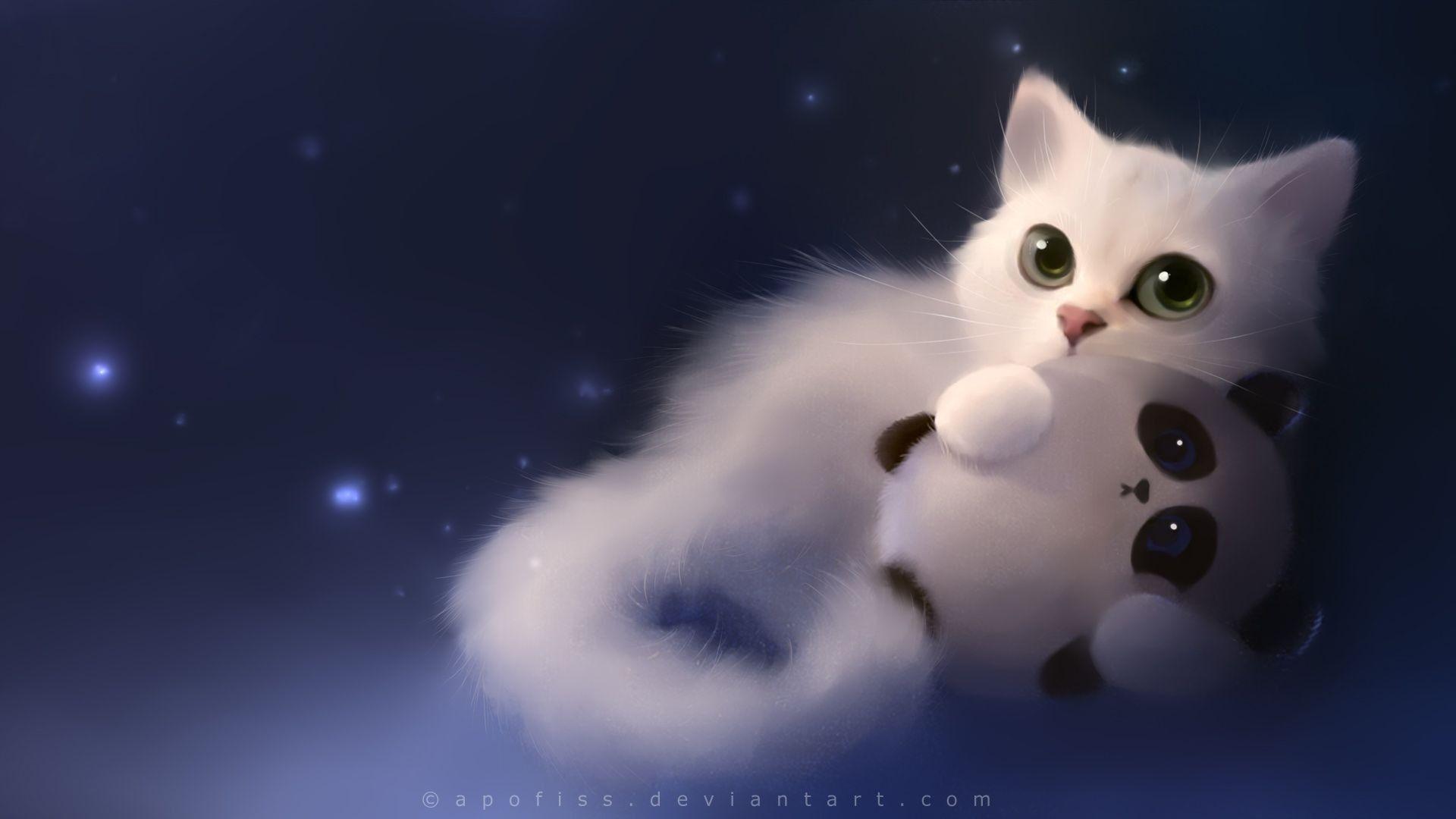 Cute Anime Cat Wallpapers Top Free Cute Anime Cat Backgrounds Cute Anime Cat Cute Cat Wallpaper Anime Kitten