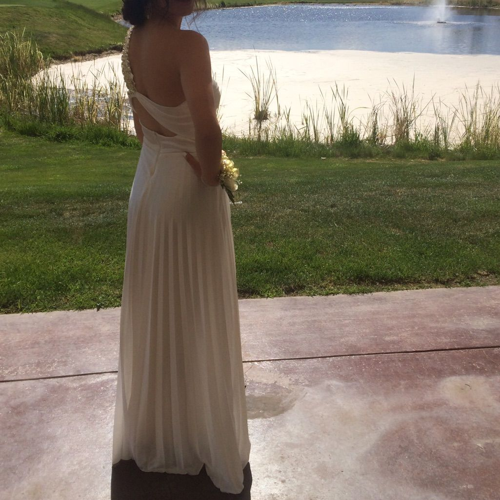White oneshoulder prom dress prom shoulder and products