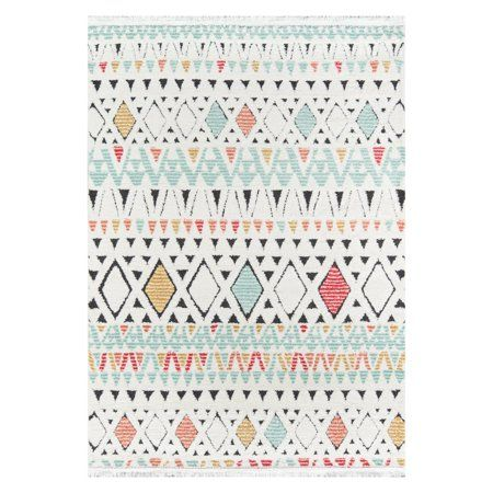 Momeni Monaco Polypropylene And Polyester Machine Made Multi Area Rug 7 6 X 9 6 Walmart Com In 2020 Area Rugs Indoor Area Rugs Where To Buy Carpet