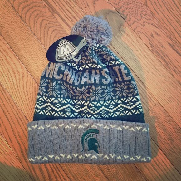 Michigan State Spartans Winter Hat MSU Spartans Women s Winter Hat NWT  Accessories Hats f75e55a75