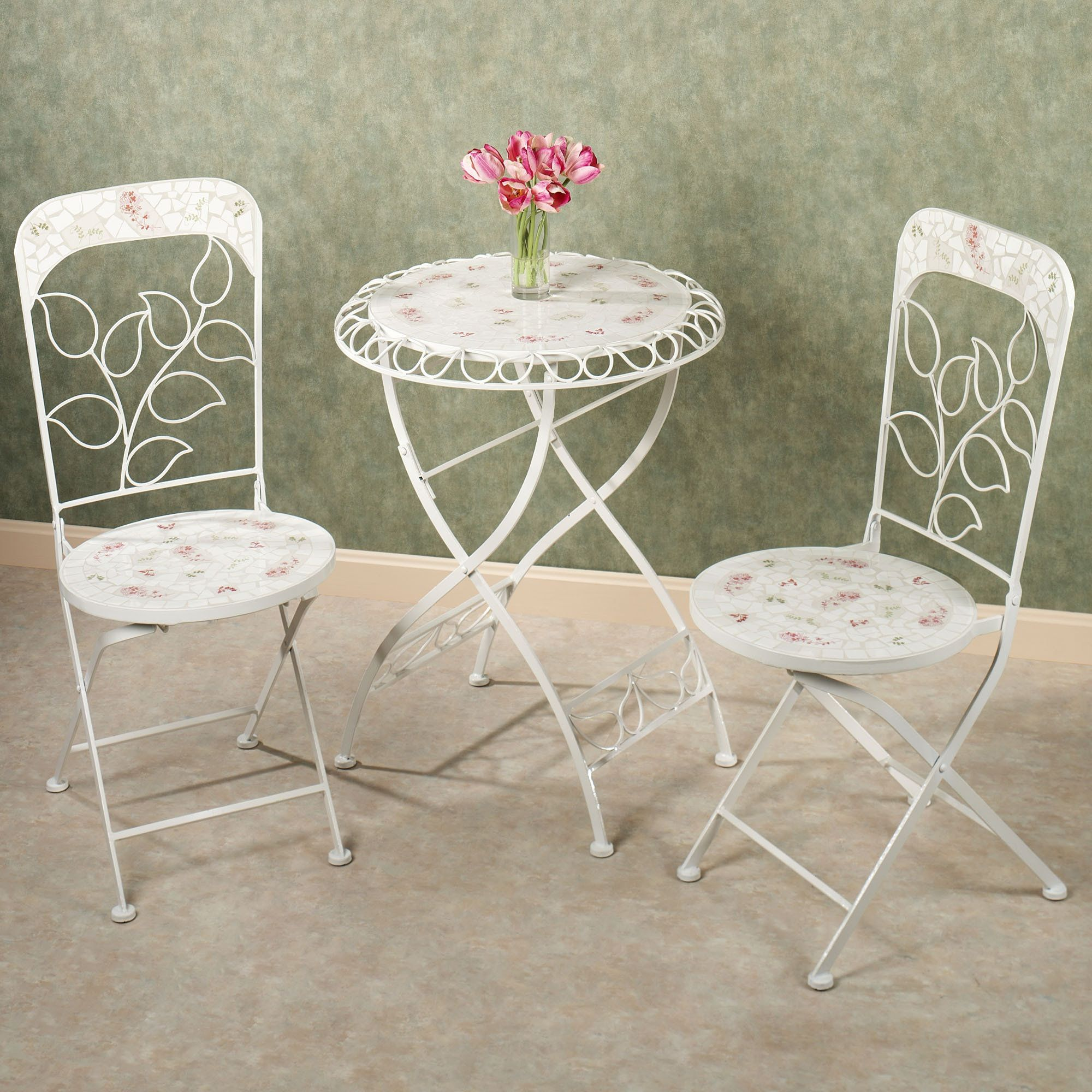 Abigails Garden Indoor Outdoor Metal Bistro Furniture | Tile design ...