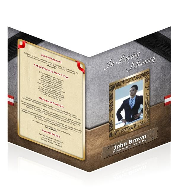 Shop Single And BiFold Easy Funeral Program Templates From