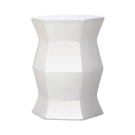 Modernize your living space with this stunning, structural design. Beautifully crafted from glazed ceramic, this Gem Garden Stool boasts a mesmerizing geometric silhouette and a hexagonal surface. This...  Find the Gem Garden Stool, as seen in the Raw and Edgy Glam Collection at http://dotandbo.com/collections/raw-and-edgy-glam?utm_source=pinterest&utm_medium=organic&db_sku=118135