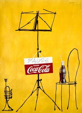 1962 Coca Cola Swiss Pop Fine Art Vintage Giclee Print