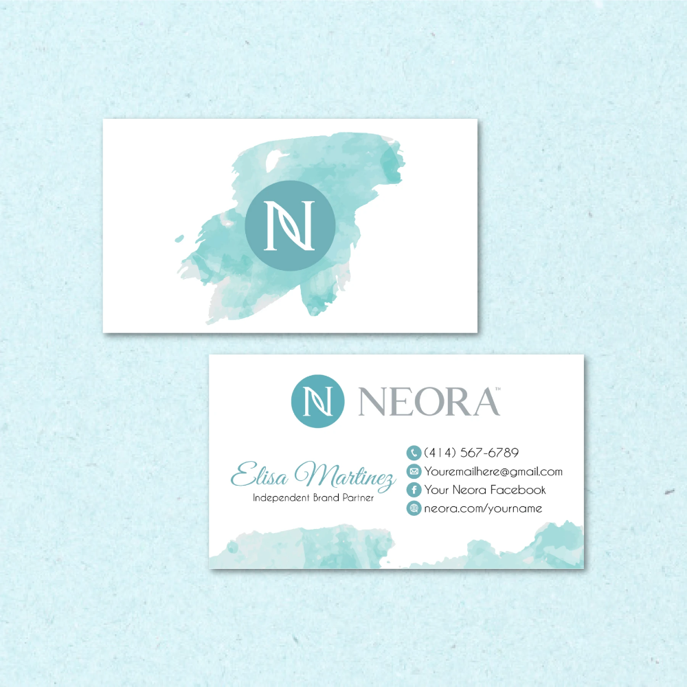 Neora Business Cards Personalized Neora Template Nr05 Business Cards Watercolor Business Card Size Personal Cards