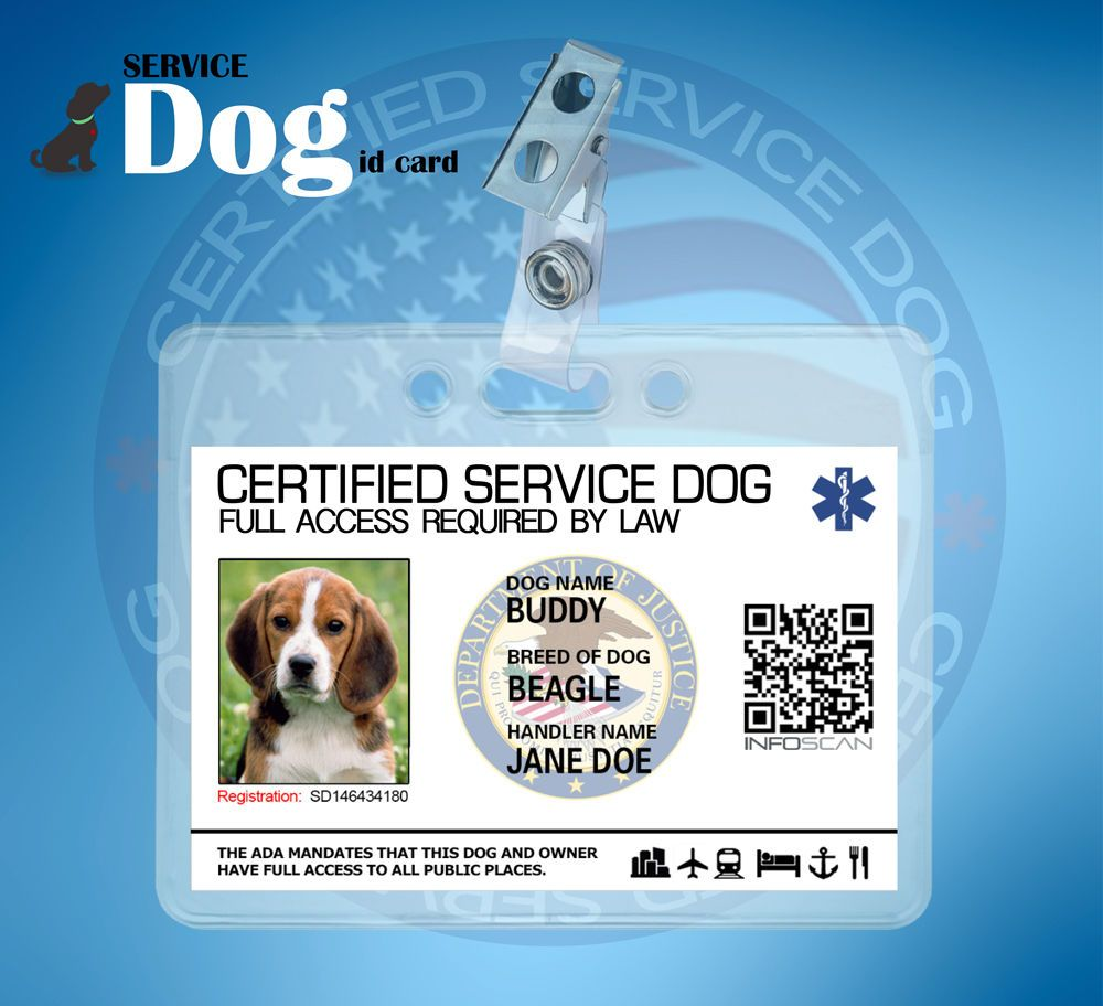 Customizable title assistance service dog id card for service warning if you have a dog that qualifies as a service dog under the ada do not show a card that states certified as the ada does not certify service 1betcityfo Images