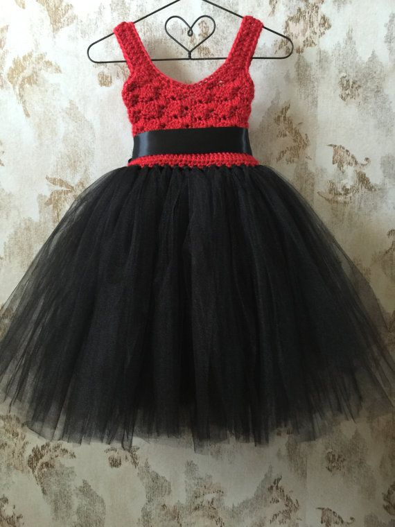 Red and black empire ankle length tutu dress. Shell be a Qt2t ...